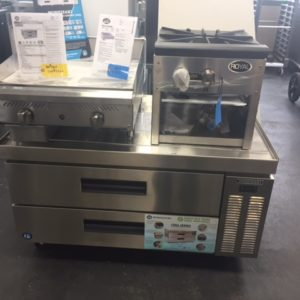 """Hoshizaki refrigerated griddle stand 49 """""""
